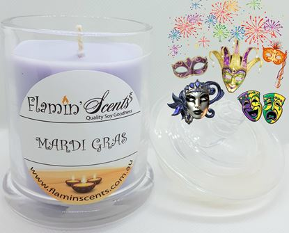 Picture of MARDI GRAS CANDLE