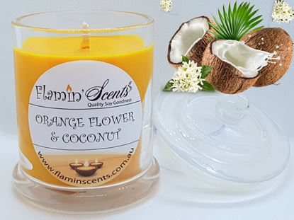 Picture of ORANGE FLOWER AND COCONUT CANDLE