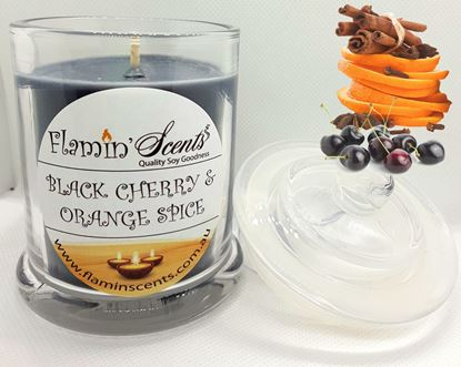 Picture of BLACK CHERRY AND ORANGE SPICE CANDLE